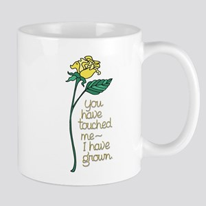 Single Yellow Rose with Sentiment Mugs