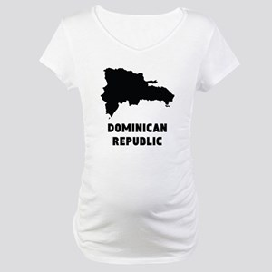 Dominican Republic Silhouette Maternity T-Shirt