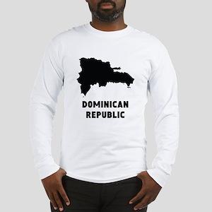 Dominican Republic Silhouette Long Sleeve T-Shirt