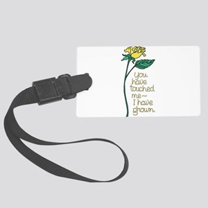 Single Yellow Rose with Sentimen Large Luggage Tag