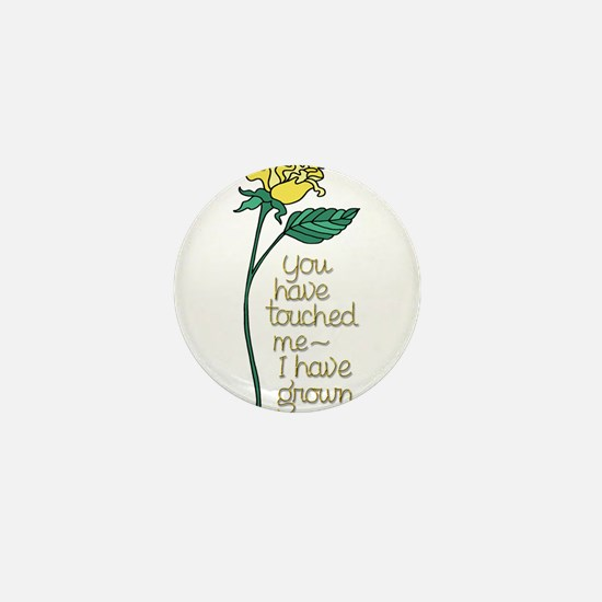 Single Yellow Rose with Sentiment Mini Button
