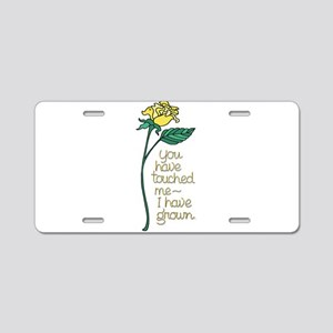 Single Yellow Rose with Sen Aluminum License Plate