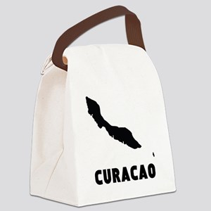 Curacao Silhouette Canvas Lunch Bag