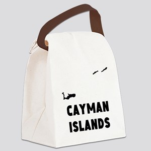 Cayman Islands Silhouette Canvas Lunch Bag