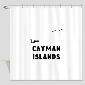 Cayman Islands Silhouette Shower Curtain