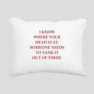 A funny joke Rectangular Canvas Pillow