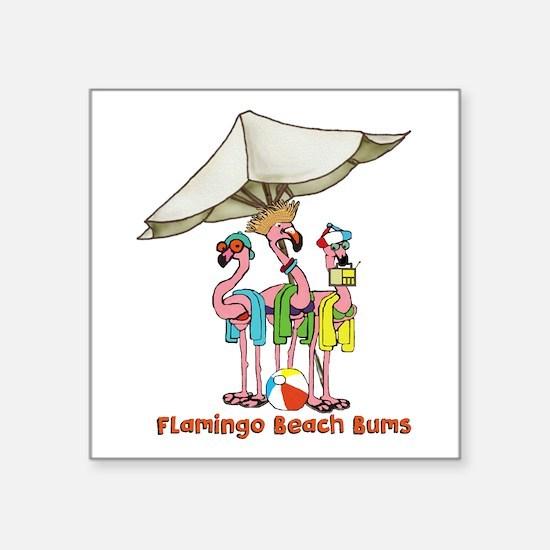 Flamingo Beach Bums Sticker