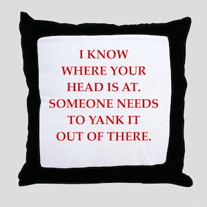 A funny joke Throw Pillow