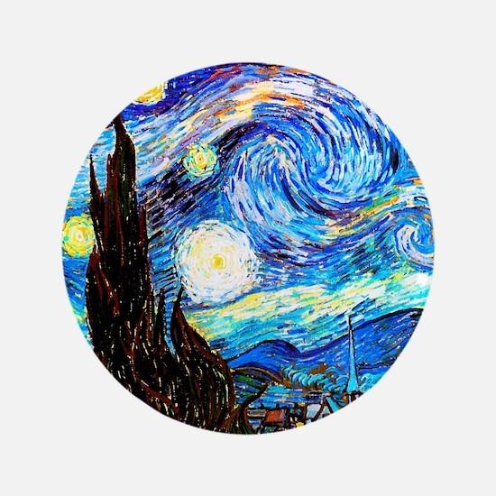 Starry Night Van Gogh Button