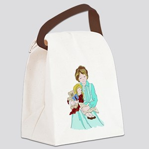 Read Me a Bedtime Story Canvas Lunch Bag