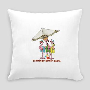 Flamingo Beach Bums Everyday Pillow