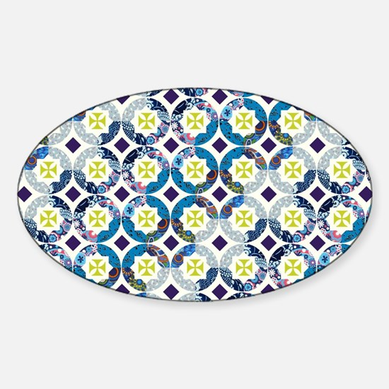 MOROCCAN TILE Sticker (Oval)