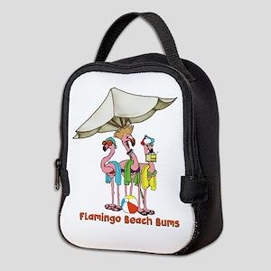 Flamingo Beach Bums Neoprene Lunch Bag