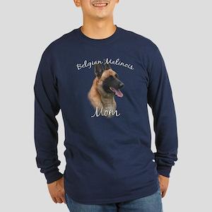 Malinois Mom2 Long Sleeve Dark T-Shirt