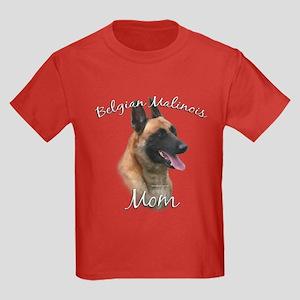 Malinois Mom2 Kids Dark T-Shirt