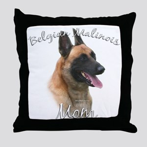 Malinois Mom2 Throw Pillow