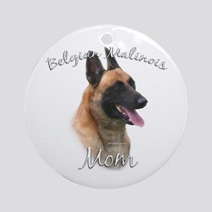 Malinois Mom2 Ornament (Round)