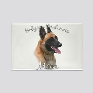 Malinois Mom2 Rectangle Magnet