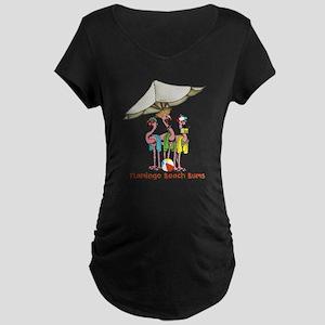 Flamingo Beach Bums Maternity T-Shirt