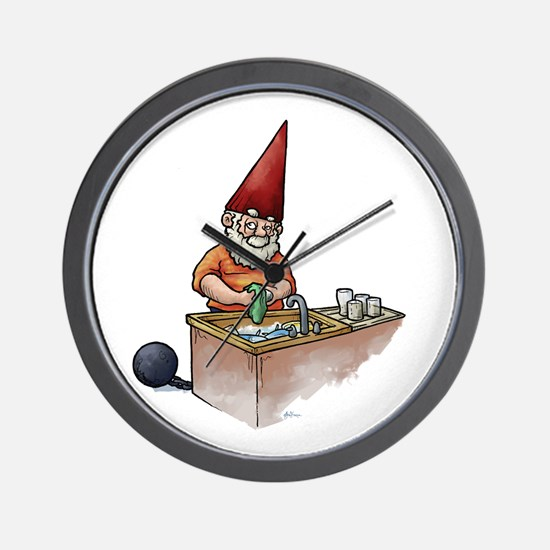 Ball and Chain Gnome Wall Clock