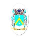 Ocker Oval Car Magnet
