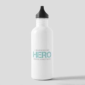 I Married My Hero - Army Wife Water Bottle