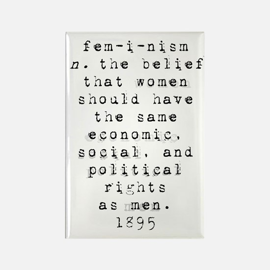 Definition of Feminism Rectangle Magnet (10 pack)