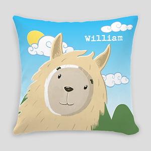Personalised Sweet Llama Everyday Pillow