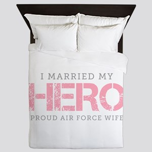 I Married My Hero - Air Force Wife Queen Duvet
