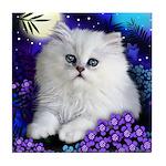 White Persian Cat Tile Coaster