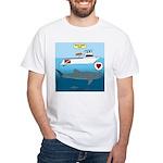 Whale Shark Love White T-Shirt