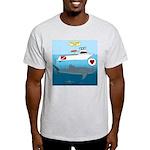 Whale Shark Love Light T-Shirt