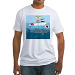 Whale Shark Love Fitted T-Shirt