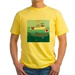 Whale Shark Love Yellow T-Shirt