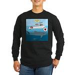 Whale Shark Love Long Sleeve Dark T-Shirt