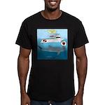 Whale Shark Love Men's Fitted T-Shirt (dark)
