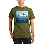 Whale Shark Love Organic Men's T-Shirt (dark)
