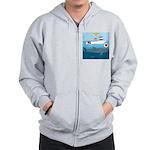 Whale Shark Love Zip Hoodie