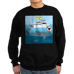 Whale Shark Love Sweatshirt (dark)
