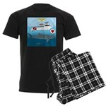 Whale Shark Love Men's Dark Pajamas