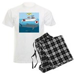 Whale Shark Love Men's Light Pajamas