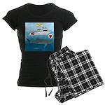 Whale Shark Love Women's Dark Pajamas