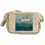 Whale Shark Love Messenger Bag