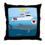 Whale Shark Love Throw Pillow