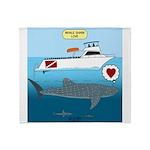 Whale Shark Love Throw Blanket
