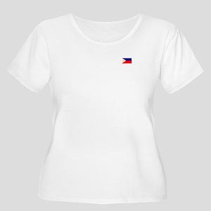 Women's Plus Size Scoop Neck T Flag (front/back)