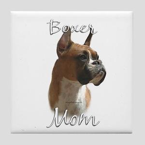 Boxer Mom2 Tile Coaster