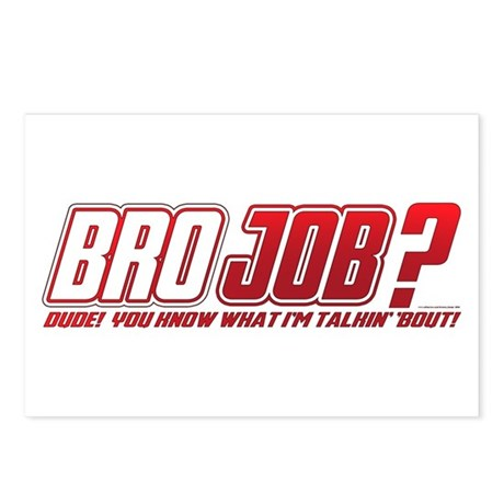 new bro job postcards package of 8 by brazen image