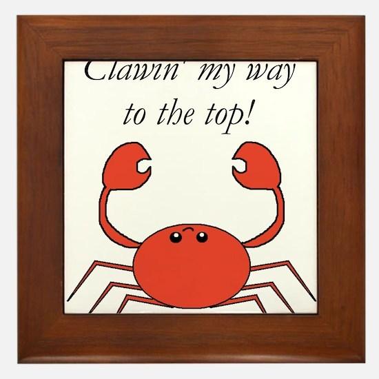 Funny Hermit crabs Framed Tile