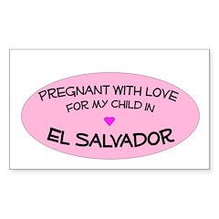 El Salvador Adoption Rectangle Decal